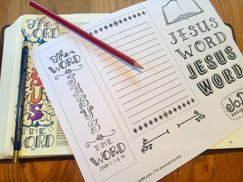 Bible journaling by JoDitt