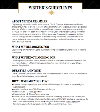 How to Create Writer\'s Guidelines + a FREE Template