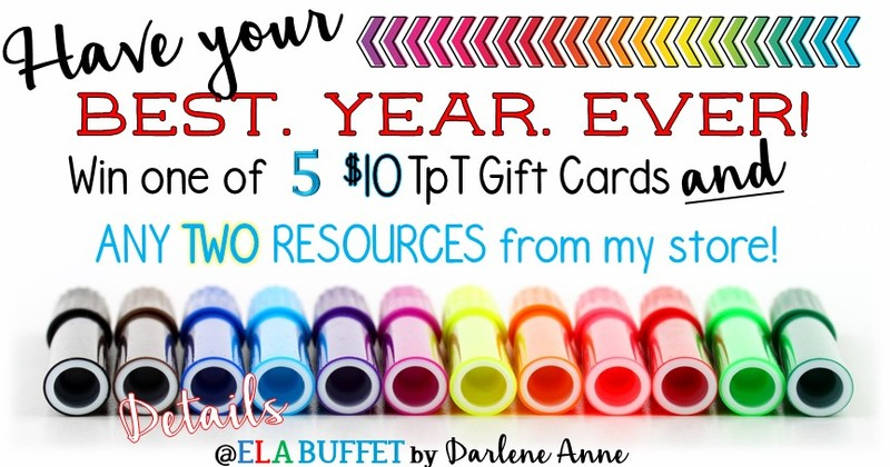 Have your best year ever, with a chance to win one of five TpT gift cards!