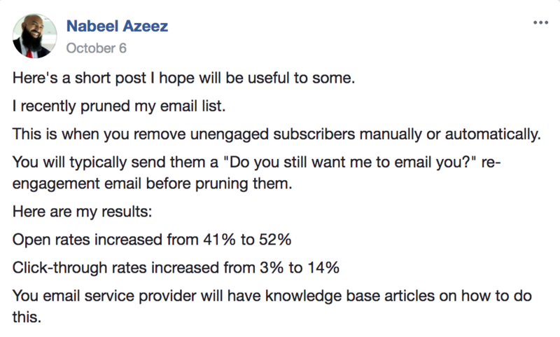 why you should prune unengaged email subscribers.