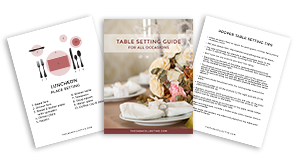 Easy Guide to a Proper Table Setting - The Casa Collective
