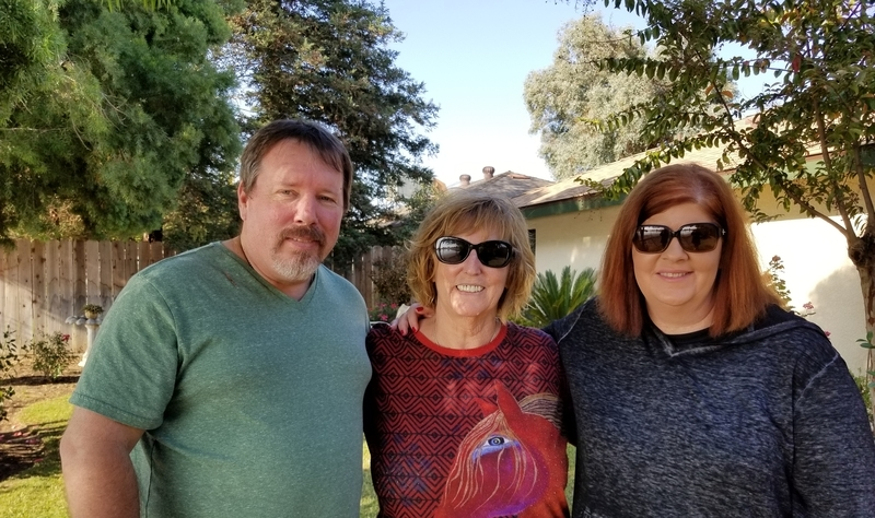 Hanging out with family in sunny CA