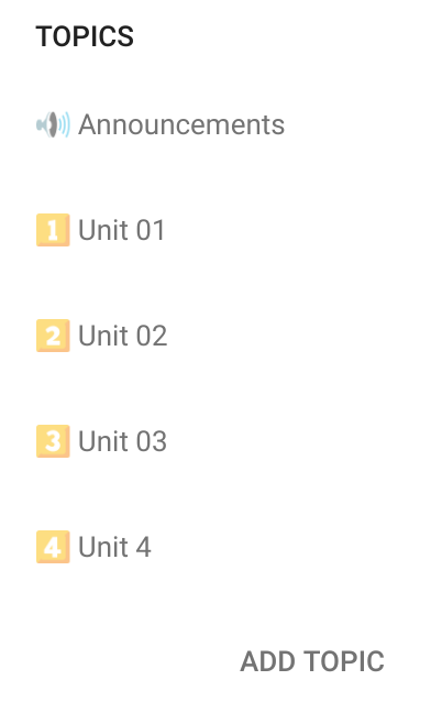 Google Classroom - Stream Topics