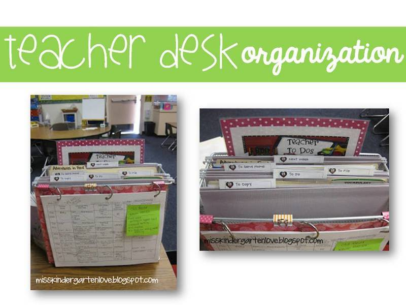 How to organize your teacher desk