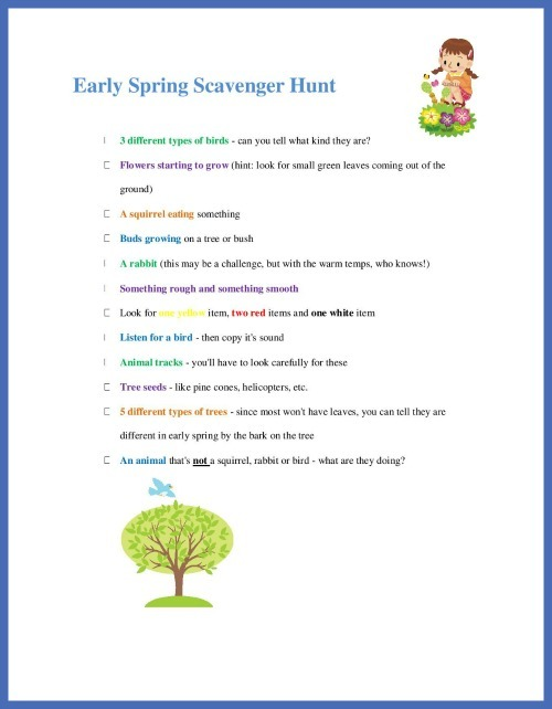 Spring Scavenger Hunt with free printable list Edventures – Library Scavenger Hunt Worksheet