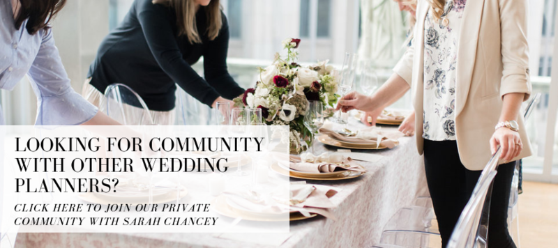 Introducing the Chancey Charm Wedding Planner Membership. Resources, opportunities, training, and guidance for planners who are looking for support and community.
