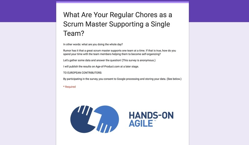 Survey: What Are You Doing the Whole Day as a Scrum Master of One Team?