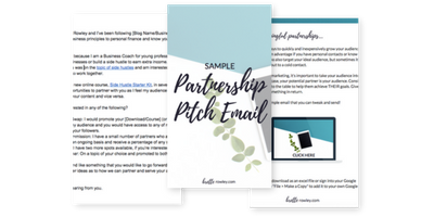 Sample Partnership Pitch Email |