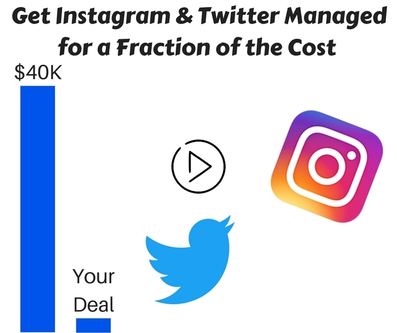 Get Instagram And Twitter Managed For A Fraction of The Cost