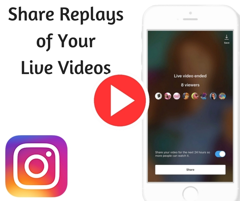 Share Replays of Your Live Videos