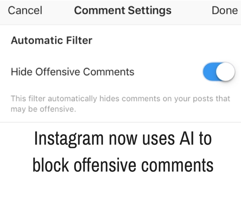 Learn how to hide offensive comments here