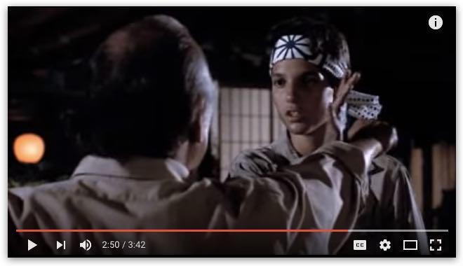 Wax On Wax Off scene from The Karate Kid
