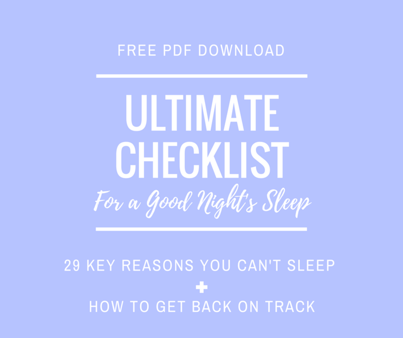 Ultimate Sleep Checklist