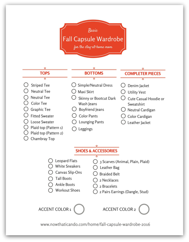 Basic fall capsule wardrobe 72 outfits for the stay at home mom shopping checklist 7 days of outfit inspiration using the fall capsule pronofoot35fo Image collections
