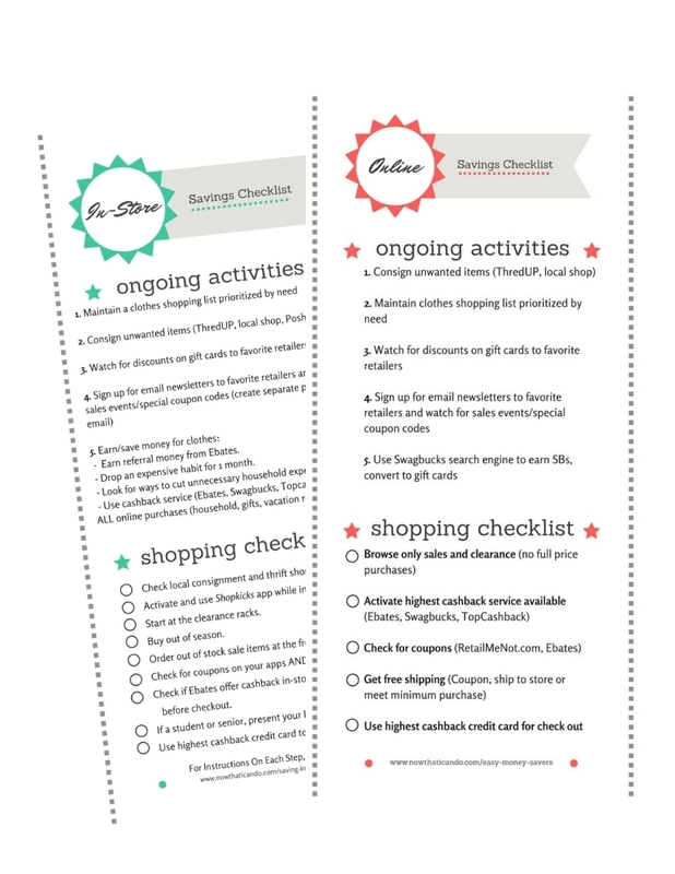 5 steps to saving the most money on every order online and easy get the savings strategies checklist fandeluxe Gallery