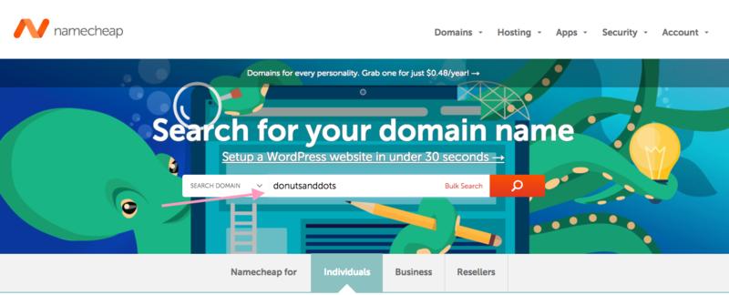 Start a WordPress blog- register a domain name