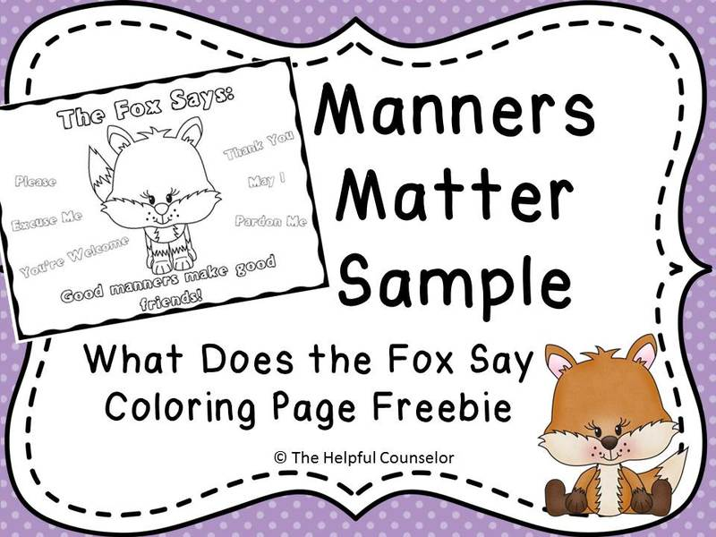 Coloring Pages About Good Manners Coloring Pages