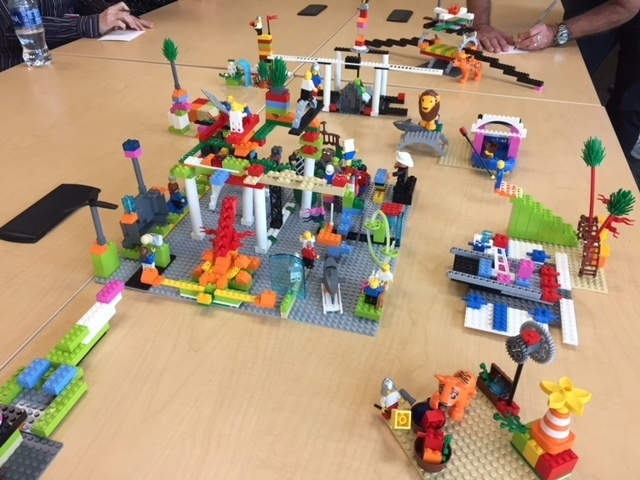 "Final ""landscape"" and ""identities"" at Stanford LEGO® SERIOUS PLAY® team building retreat"