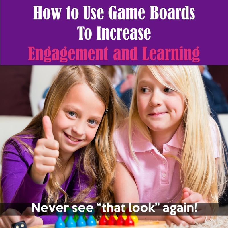 Get over 40 FREE game boards! Tips and tricks for using game boards in your classroom to increase on-task behavior. #math #classroom #elementary #classroombehavior