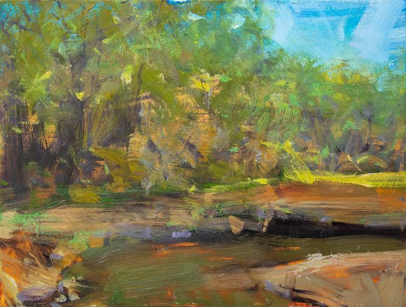 The first morning plein air painting demo by Bill Inman – about an hour and a half