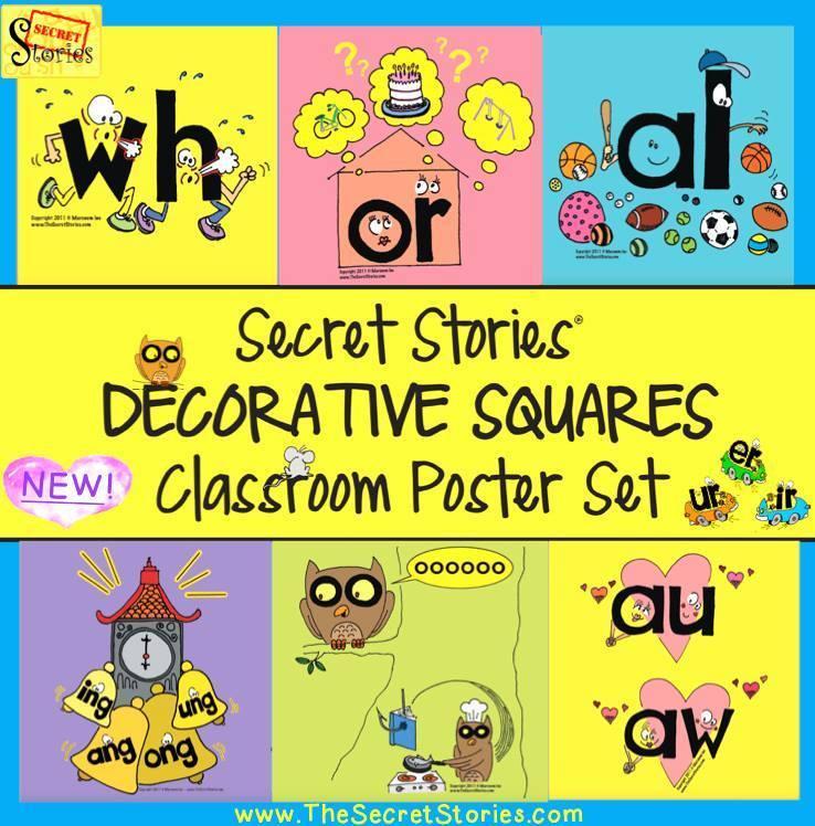 """Secret Stories """"Decorative Squares"""" Kit/ Posters"""