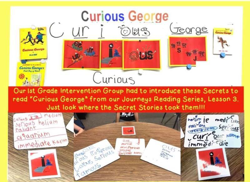 You Can't Read Curious George in Journeys Lesson 3 without Secret Stories Phonics Secrets!