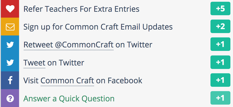 Image: Common Craft Giveaway Options
