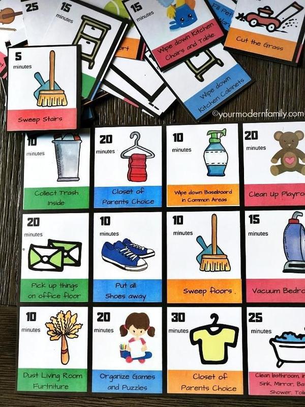 Chore chart for children.