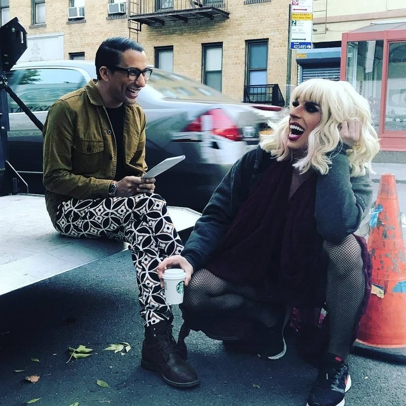 Hurricane Bianca 2 laughter on set
