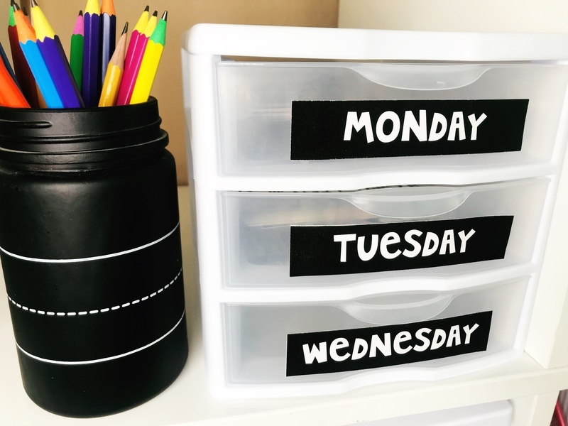 Organize your daily classroom papers into drawers with labels!