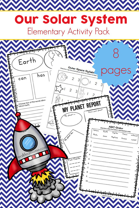 Our Solar System Printables Packet