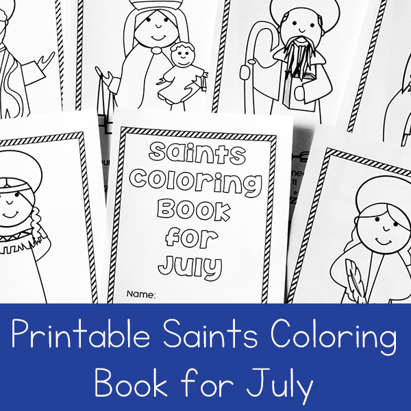 Printable Saints Coloring Book for July