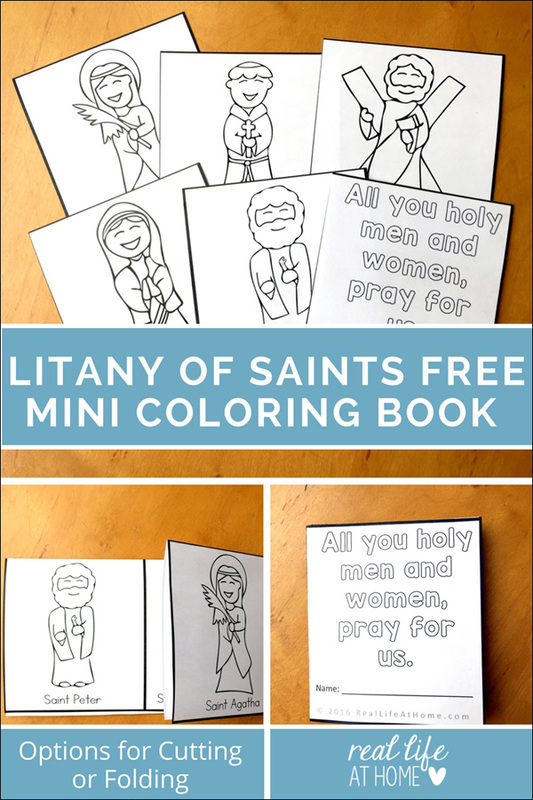 All Saints' Day Coloring Pages / Litany of Saints Mini Book