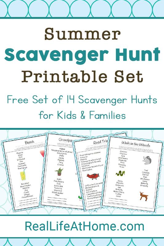 Summer Scavenger Hunt Printable Set