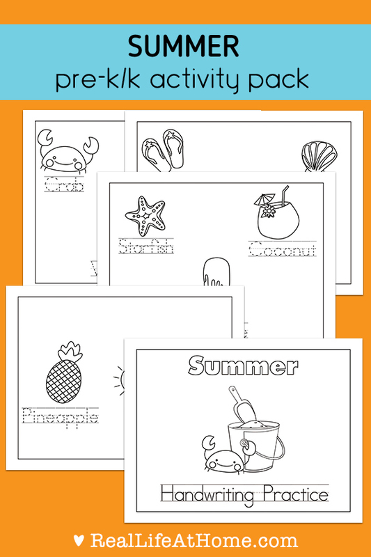 Summer Handwriting and Coloring Packet