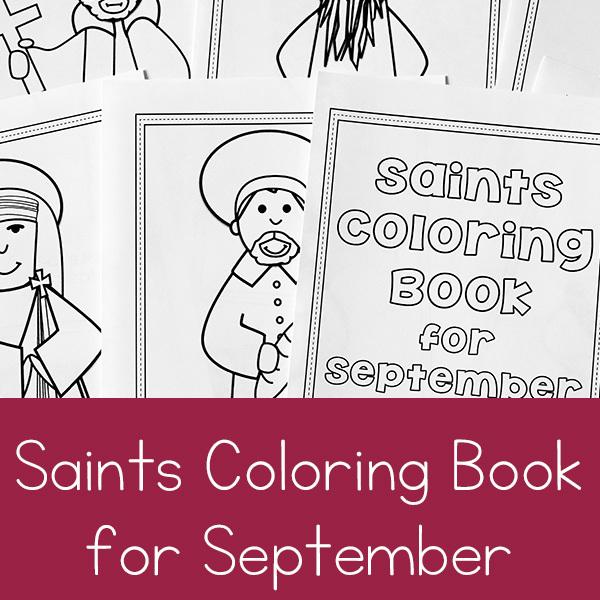 September Saints Coloring Book Printable