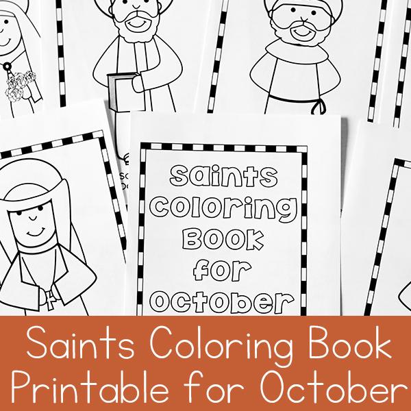 October Saints Coloring Book Printable