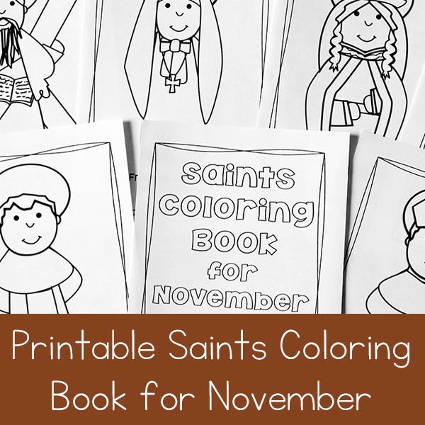 November Saints Coloring Book Printable