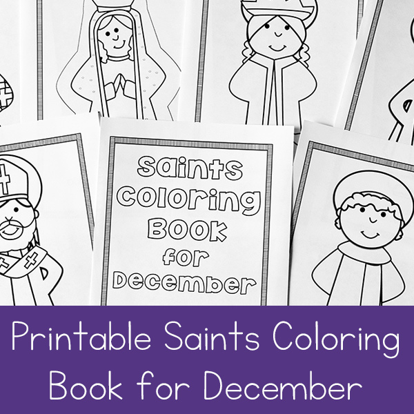December Saints Coloring Book