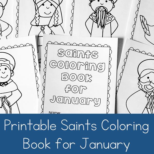 January Saints Coloring Book