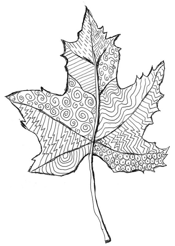 Zentangle Leaf Template