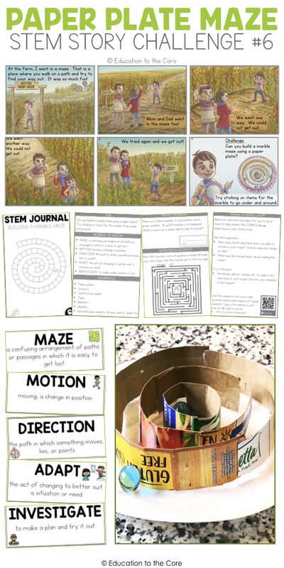 Paper Plate Maze Stem Story Challenge