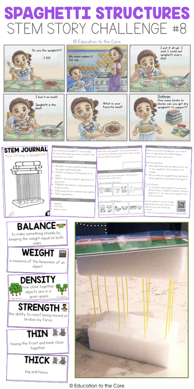 Spaghetti Structures Stem Story Challenge