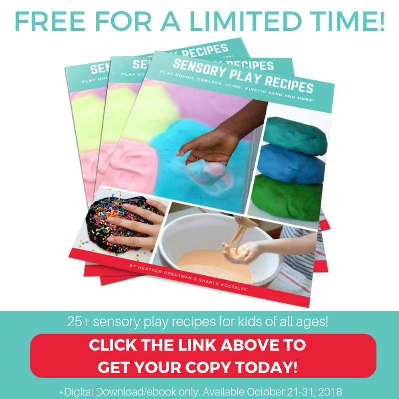 FREE SENSORY RECIPES E-BOOK