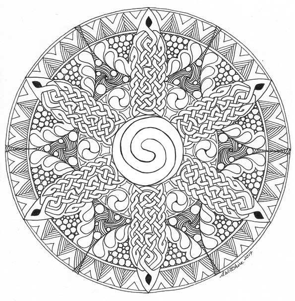 Tangled Celtic Mandala 217