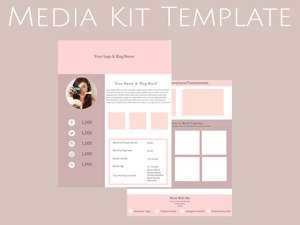 Creating a media kit for your blog designing the perfect media get your free media kit template pronofoot35fo Image collections