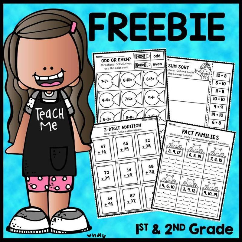 1st And 2nd Grade Math Worksheets Teaching Second Grade