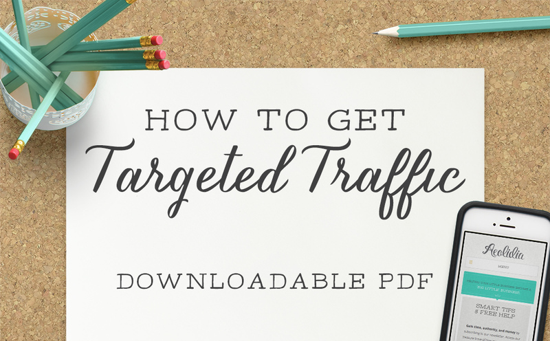 Free Resource: How to Get Targeted Traffic, Aeolidia