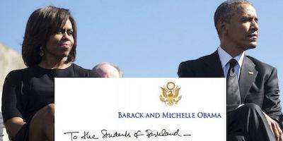 Obamas send moving letter to Parkland survivors