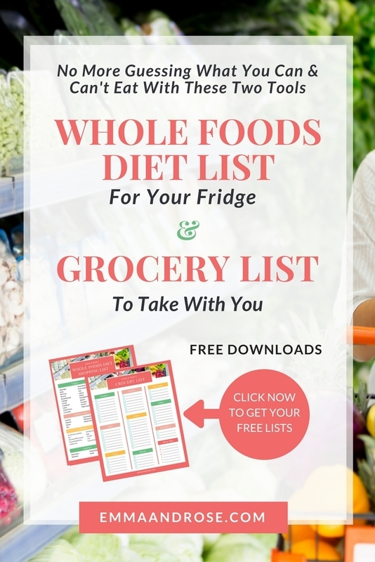 Whole Foods Diet & Grocery List